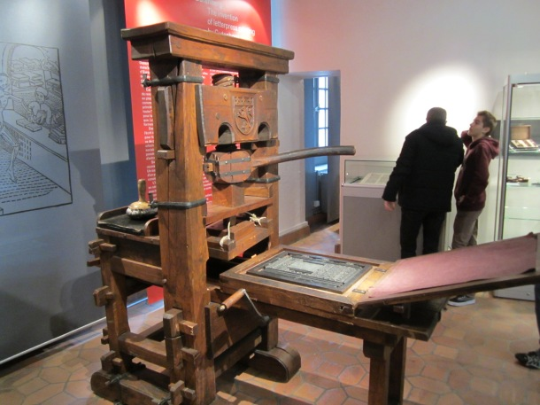 Early printing machine