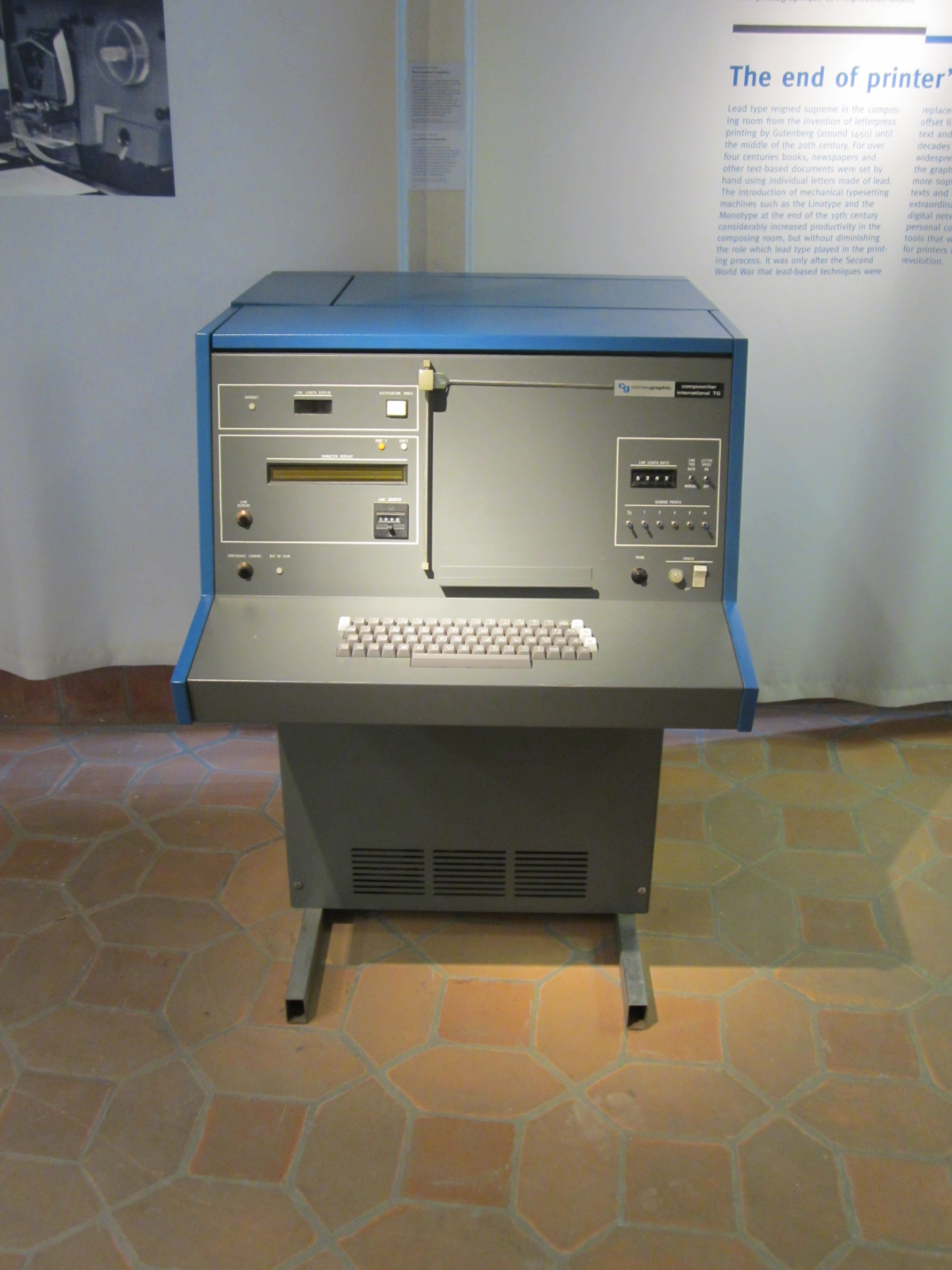 Early Modern Printing Computer